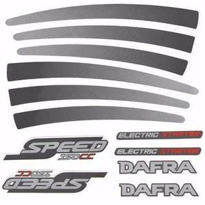 Kit adesivos dafra speed 150cc serve para todos os anos