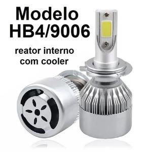 Kit lampada led automotivo hb4 72w 6000k 8200l super branca