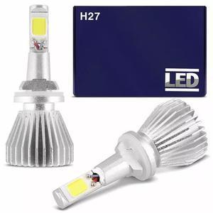 Kit lampada super led h27 6000k 6400 lumens/par branca 12v
