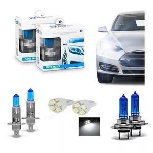 Kit lâmpada super branca h1 + h7 tipo xenon 8500k +pingo