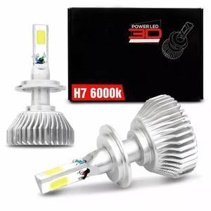 Kit lâmpada super led 3d h7 6000k 9000 lúmens efeito