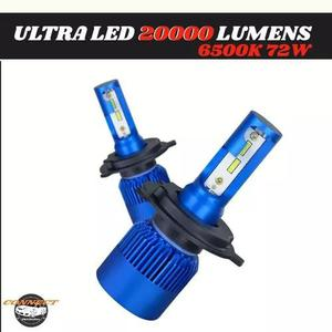Kit super ultra led 20000lm 6500k mini cooler interno toop