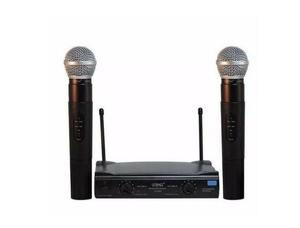 Kit com 02 microfone sem fio wireless duplo