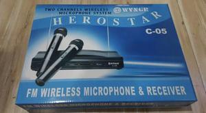 Kit microfone profissional com 2 microfones! ideal para