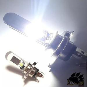 Lampada farol led h4 8000k super branca continua / alternada
