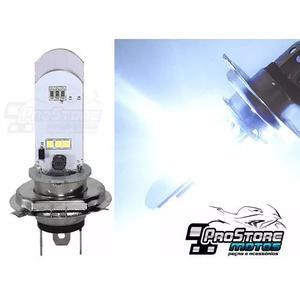 Lampada farol led h4 para moto efeito xenon maior alcance