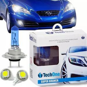 Lampadas super brancas 8500k tipo xenon tech one brinde t10