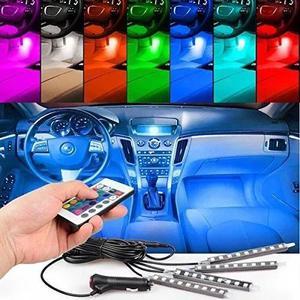 Led neon rgb luz interno acessórios carro tuning 8 cores b