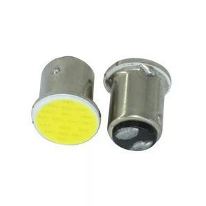 Lâmpada 2 polo led cob 1157 18 chips lanterna freio frete 8