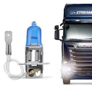 Lâmpada super branca encaixe h3 4200k 24v 70w caminhão