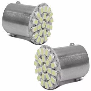 Par lampadas ba15s 67 22 leds 2 polos ré 5w alumínio