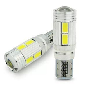 Par lâmpada 9 leds cambus cree t10 pingo branco branca