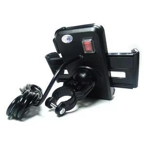 Suporte gps/ celular moto c/ carregador usb fxgz 10v-30v