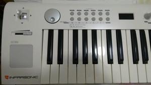 Teclado controlador midi usb infrasonic