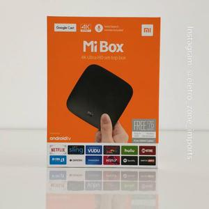 Tv box xiaomi mi box tv 4k ultra hd + google cast (aberto