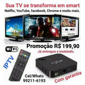 Tvbox mxq pro, smarttv, hdmi, entregamos e instalamos sem