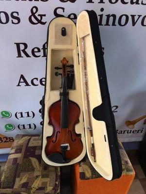 Violino janhke novo na caixa / casa das tubas
