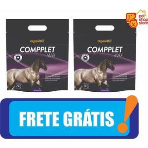 2 x compplet max 2 kg - organnact 2kg cavalo pet shop store