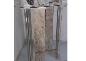 Mesa de centro em granito e inox