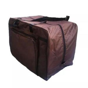 Sacola para transportar sela de cavalo com bolso lateral.