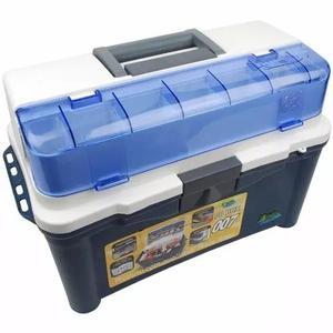 Caixa pesca pb box 007 pesca brasil + 3 estojos cor azul!