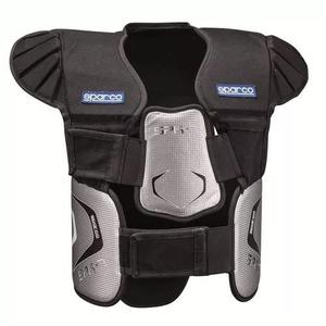 Protetor de costela kart com ombreira sparco spk7 preto