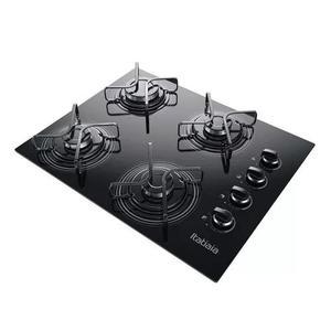 Fogão cooktop 4 bocas itatiaia a gás com preto bivolt