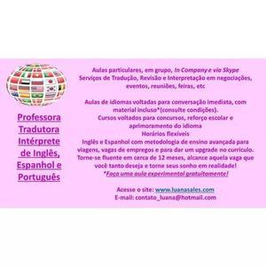 Aulas Particulares De Inglês, Espanhol E Português