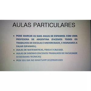 Aulas particulares espanhol