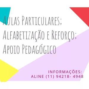 Aulas particulares/ reforço/ alfabetização