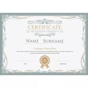 Certificado de horas para cursos