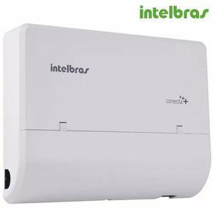 Micro central pabx conecta+ mais 2 linhas 8 ramais intelbras