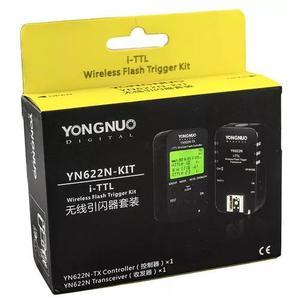 Kit rádio flash yongnuo yn622n + yn622 tx p/ nikon