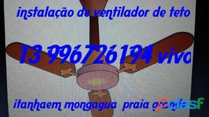 ventilador de teto   instalação   eletricista mongagua