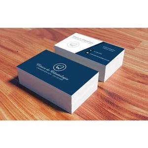 1.500 cartões de visita personalizados 4x1 com verniz total