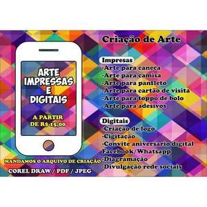 Criação de artes para produtos, serviços e outras