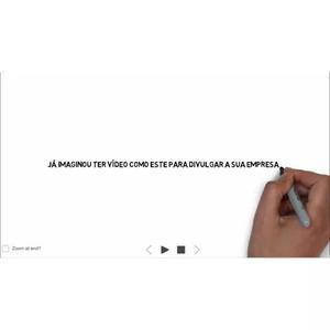Criação de vídeo escrita e desenho mãozinha