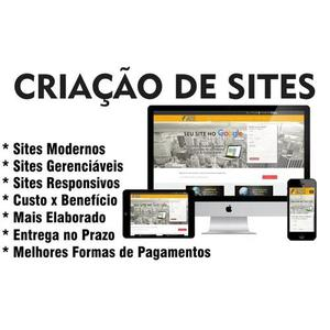 Criação, gerenciamento e suporte na criação de sites!