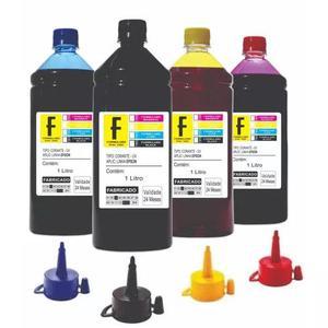 Kit 4 litros tinta epson impressora l355 l365 l375 l395