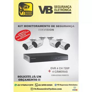 Kit câmeras de segurança (com instalação inclusa)