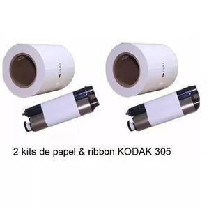 Papel fotografico e ribbon impressora kodak 305 - 640 10x15