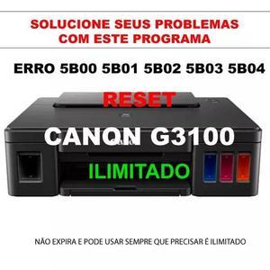 Reset Para Canon G3100 Erro 5b00 5bo2 Uso Não Expira
