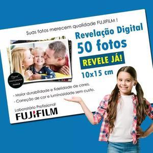 Revelação de 50 fotos digitais 10x15 c/ qualidade fujifilm