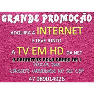 Wifi ilimitado com tv hd pelo preco de 1 serviço