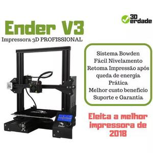 Impressora 3d ender 3 profissional + suporte técnico