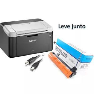 Impressora brother hl-1202 laser cabo + toner pronta entrega