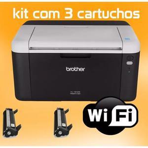 Impressora brother laser toner kit 3 toner hl1212w wifi 220v