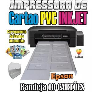 Impressora de cartão pvc crachá inkjet epson bandeja p/ 10