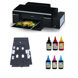 Impressora epson l805 a4 impressão cartão pvc tinta