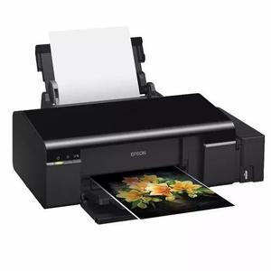 Impressora epson l805 com tinta bandeja pvc + bandeja cd